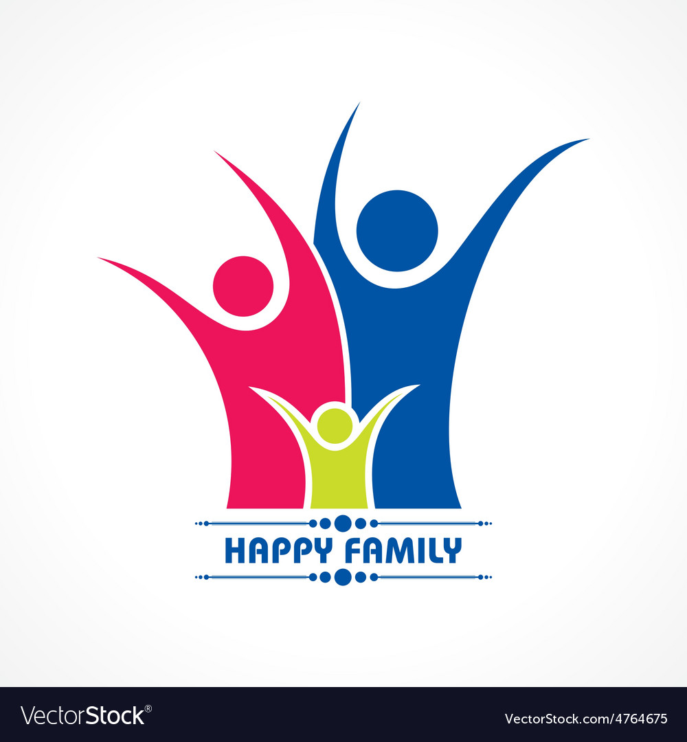 Stylish happy family greeting stock vector | Price: 1 Credit (USD $1)