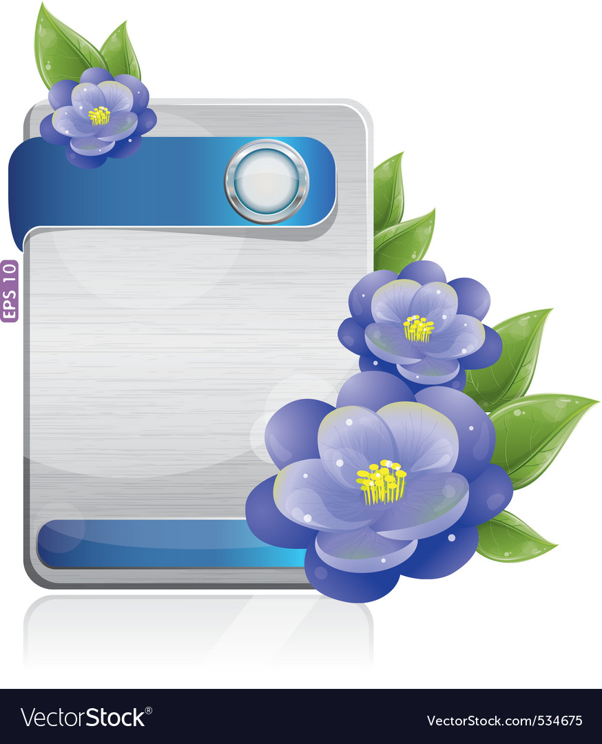 Technology flowers vector | Price: 1 Credit (USD $1)