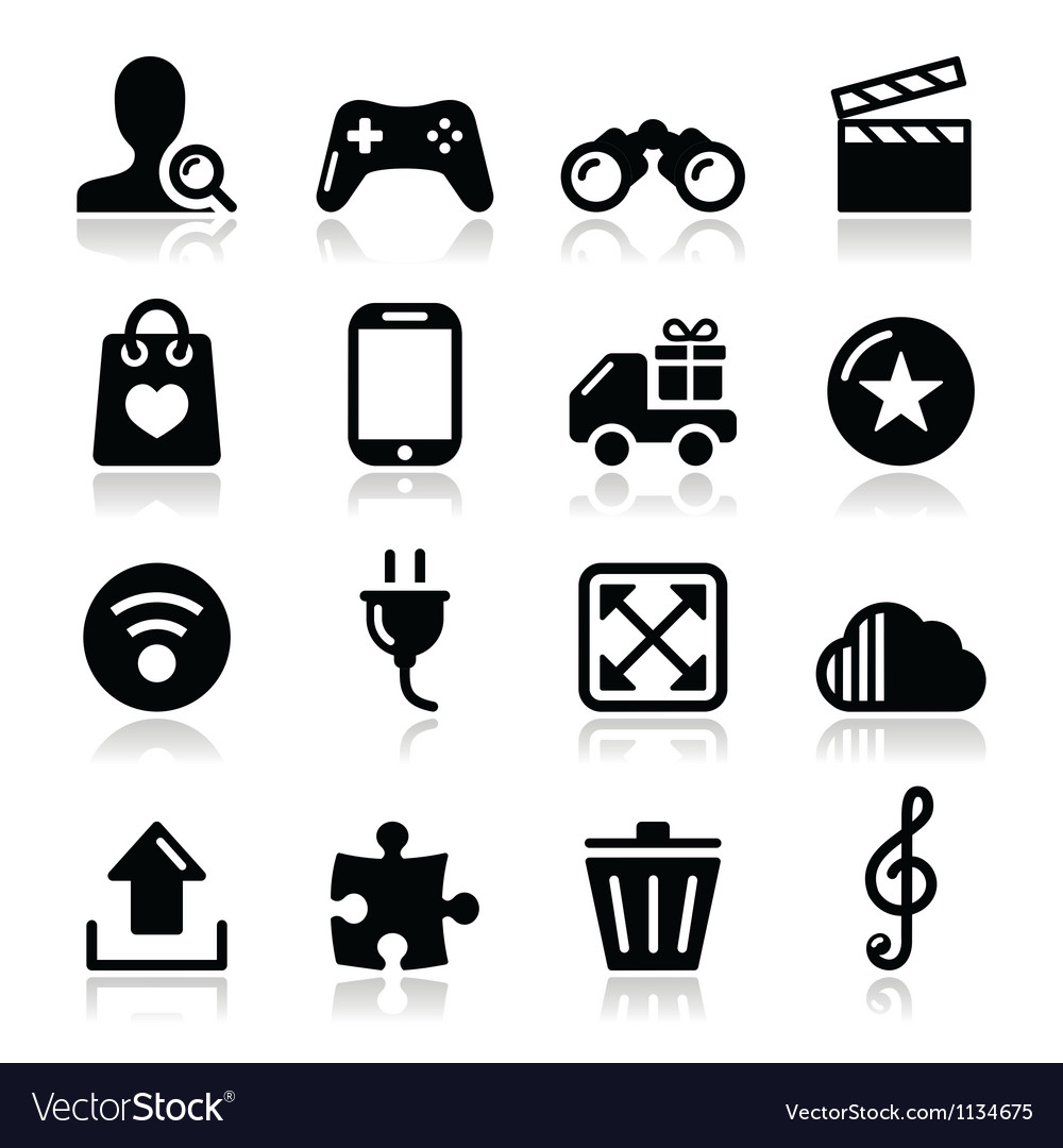 Web internet icons set - vector | Price: 1 Credit (USD $1)