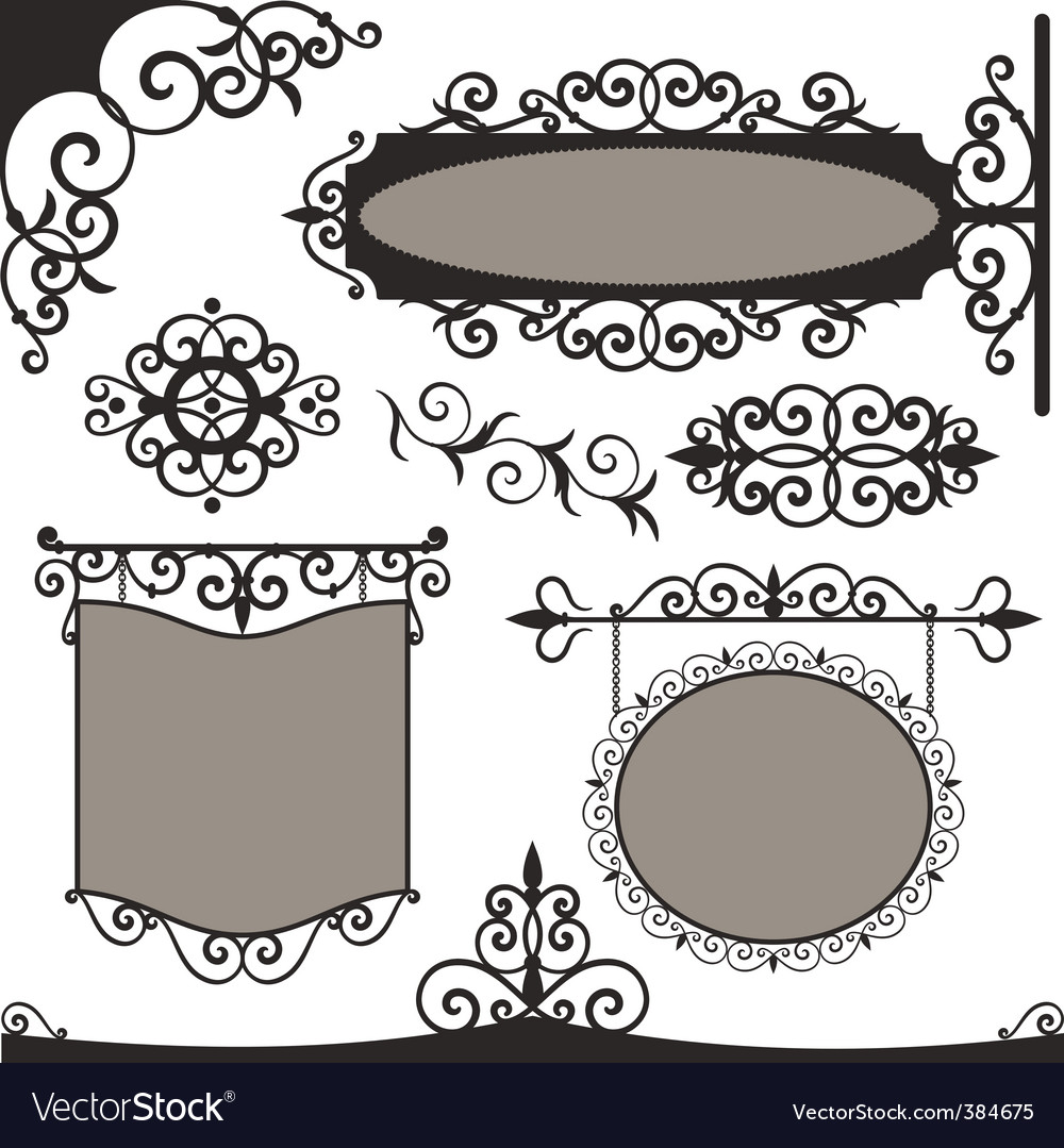 Wrought iron vintage vector | Price: 1 Credit (USD $1)