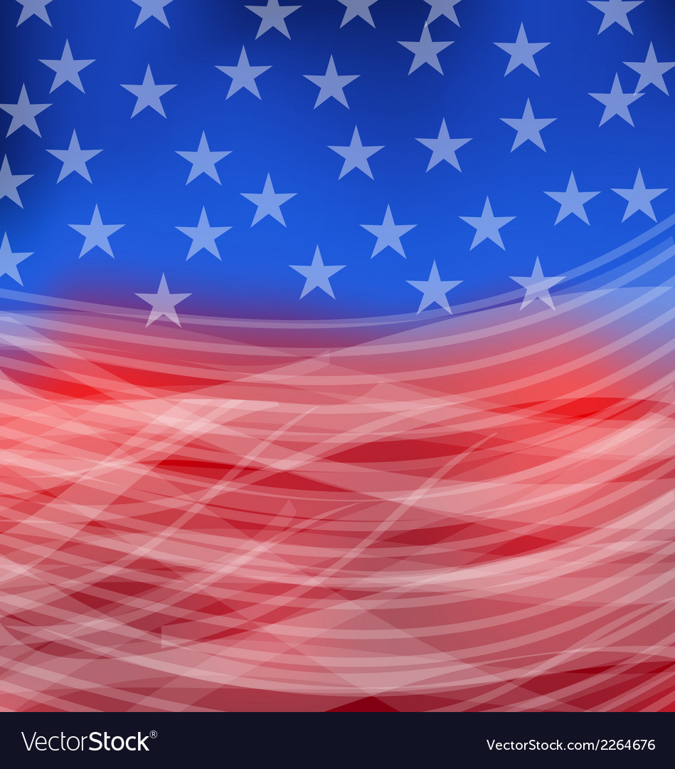 Abstract american flag for happy 4th of july vector | Price: 1 Credit (USD $1)