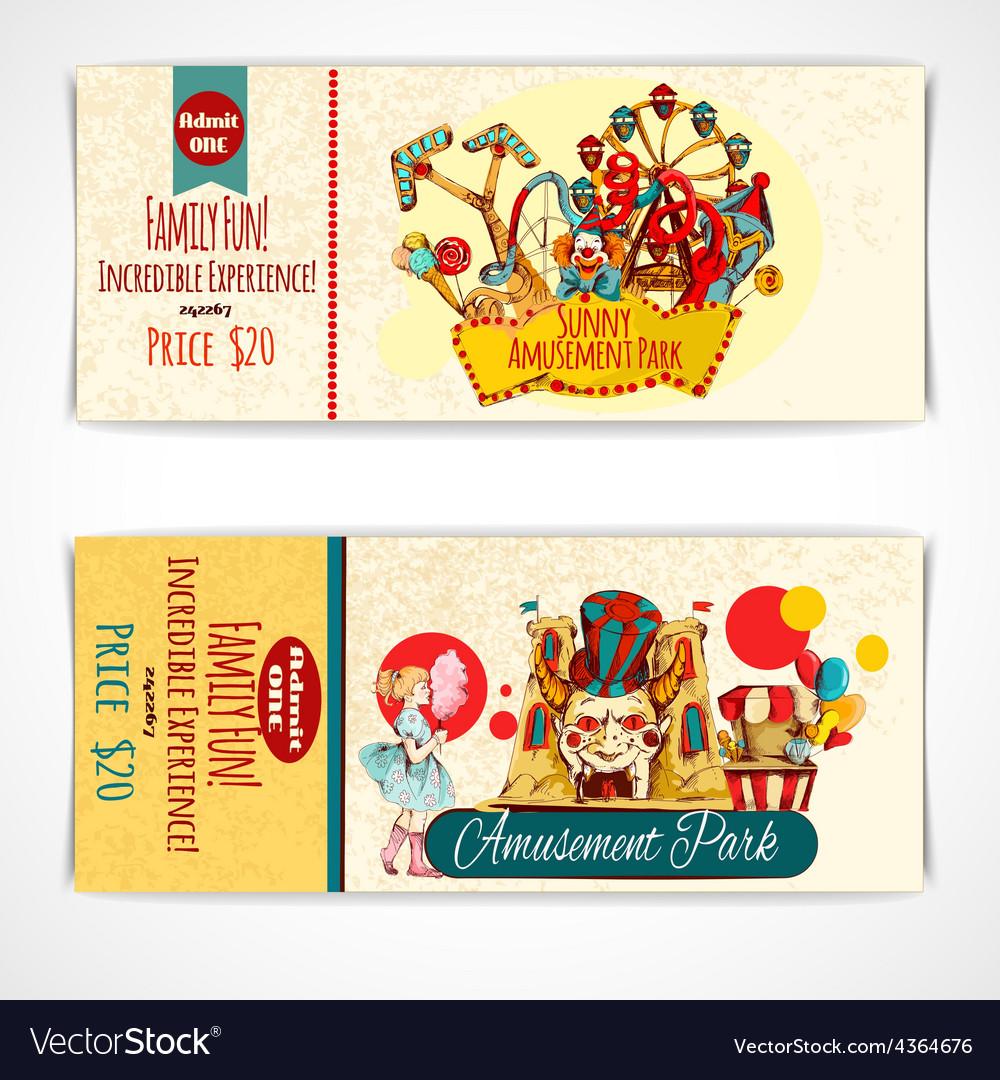 Amusement park tickets vector   Price: 1 Credit (USD $1)