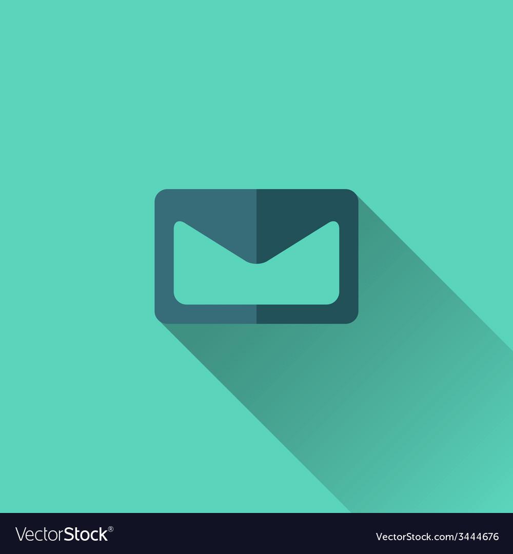 Blue envelope icon flat design vector   Price: 1 Credit (USD $1)