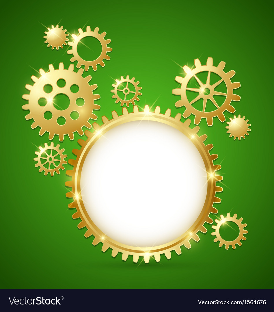 Cogwheel gear document template vector | Price: 1 Credit (USD $1)