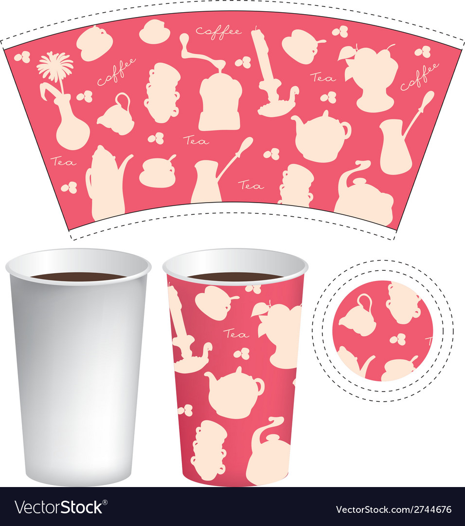 Cup template vector | Price: 1 Credit (USD $1)