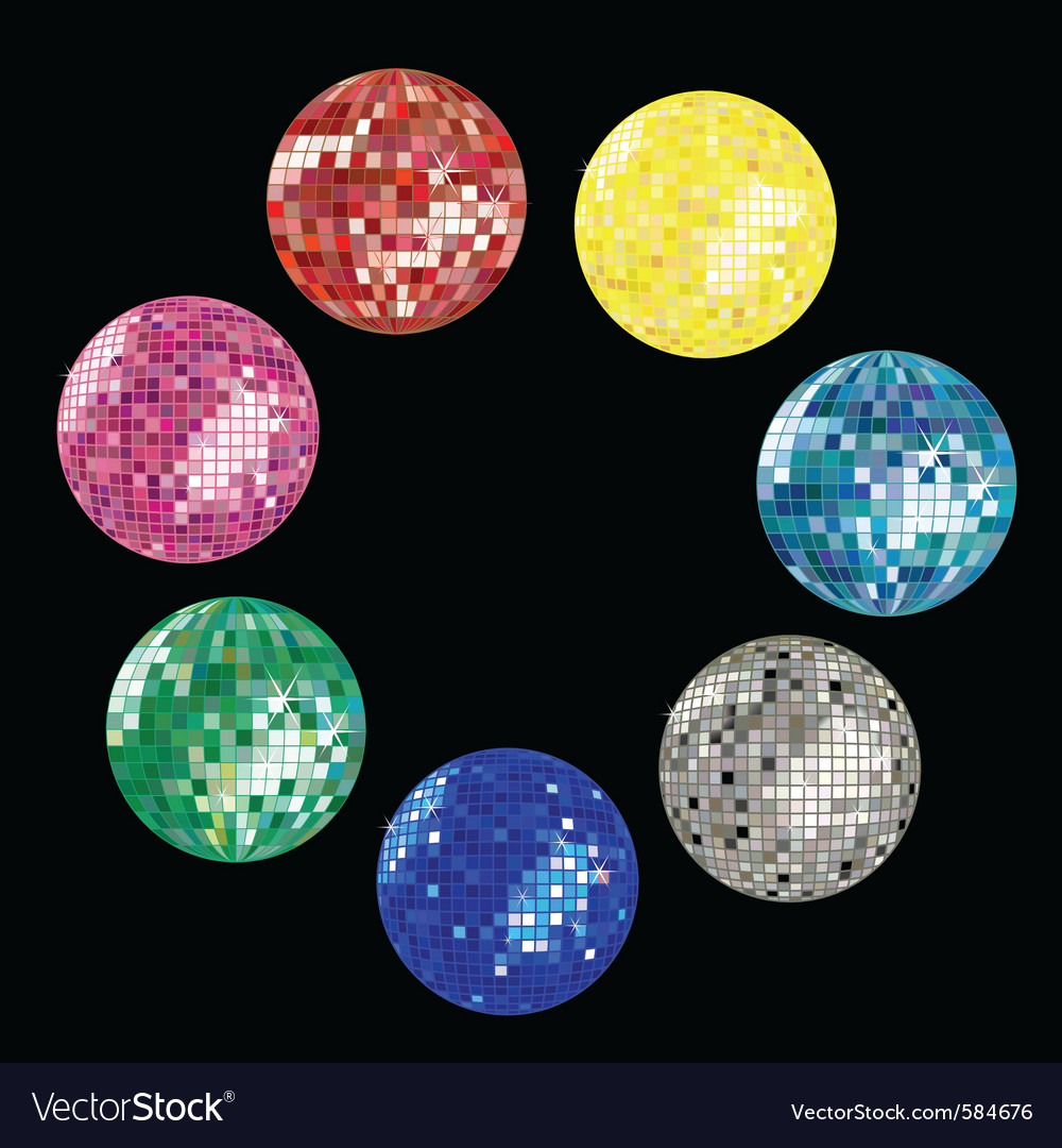 Disco ball collection vector | Price: 1 Credit (USD $1)