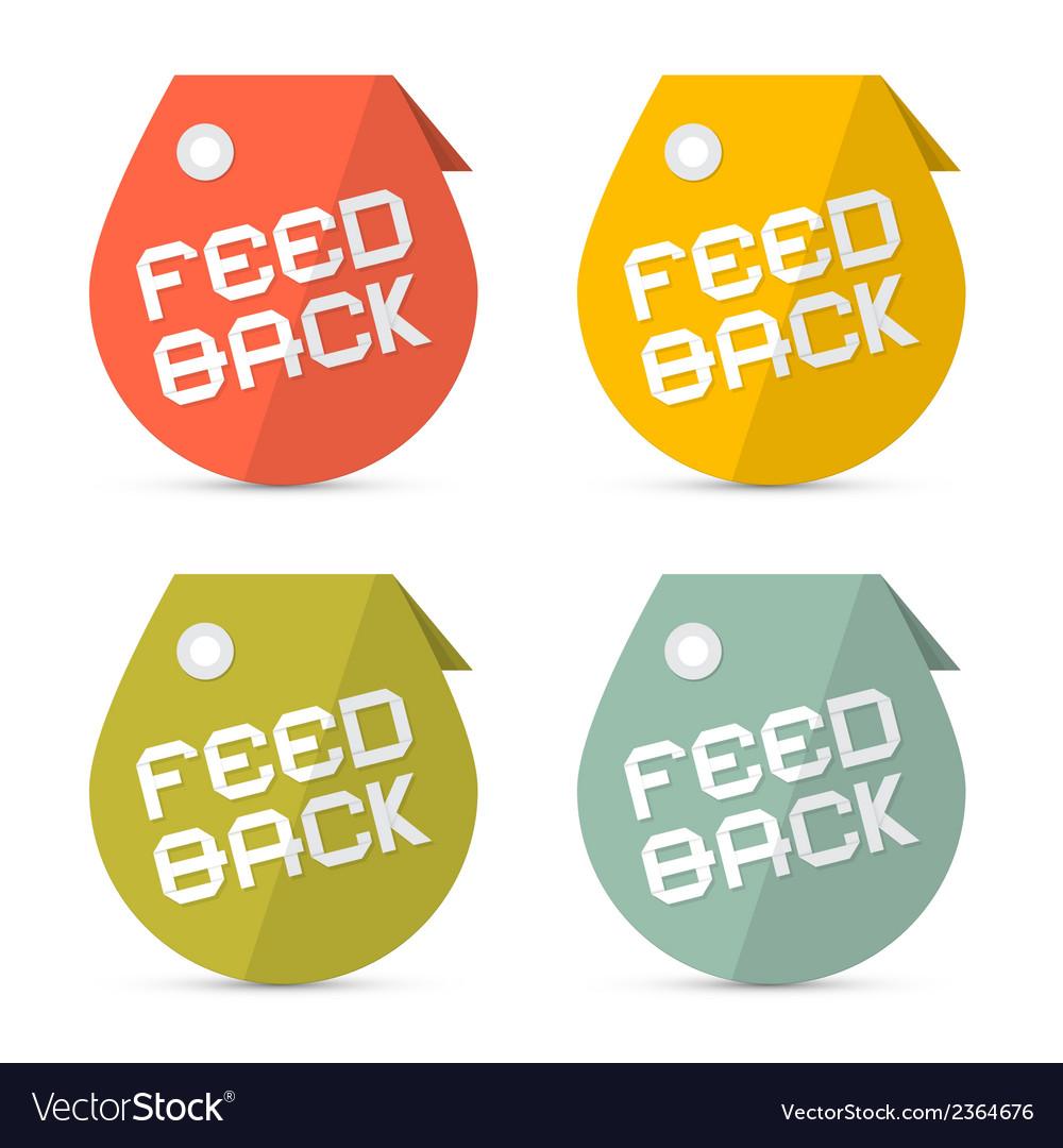 Feedback retro paper icons set vector | Price: 1 Credit (USD $1)