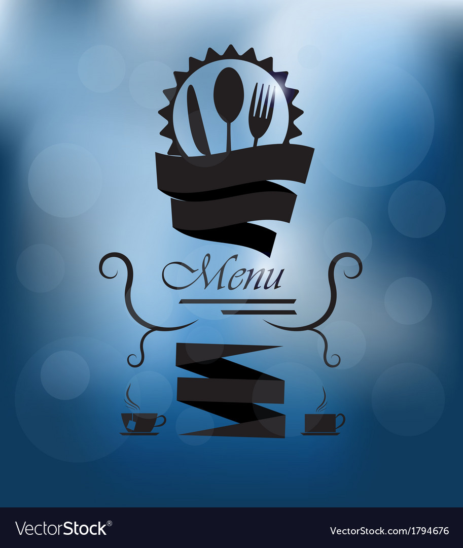 Menu poster on glass vector | Price: 1 Credit (USD $1)