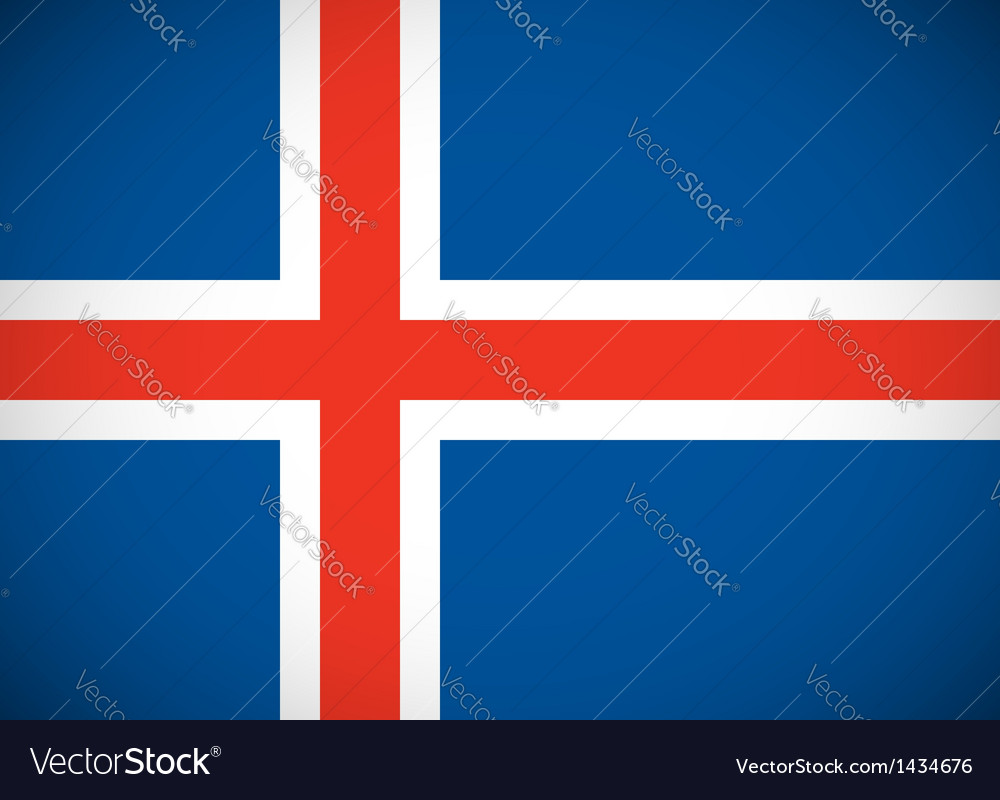 National flag of iceland vector | Price: 1 Credit (USD $1)