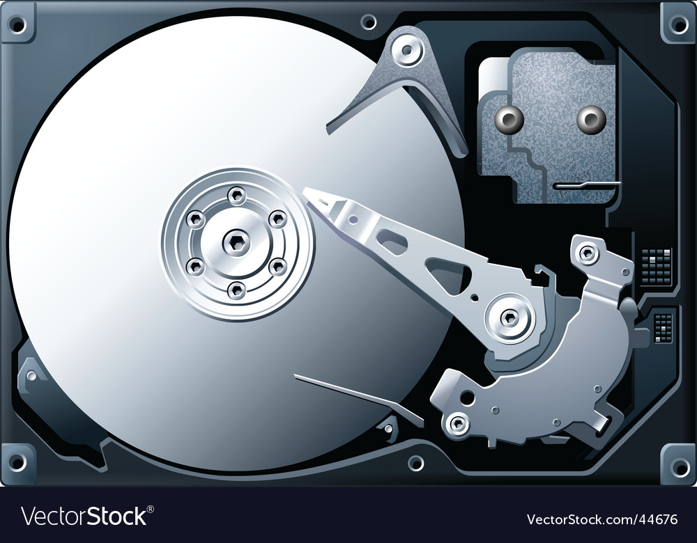 Titanium hard disk drive vector | Price: 1 Credit (USD $1)