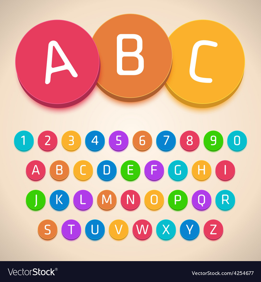 3d colorful alphabet vector | Price: 1 Credit (USD $1)