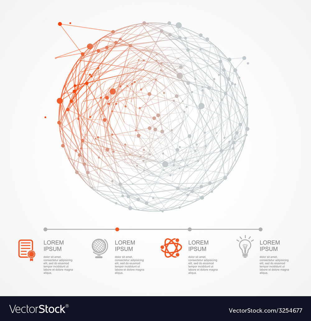 Abstract background with sphere and infographic vector | Price: 1 Credit (USD $1)