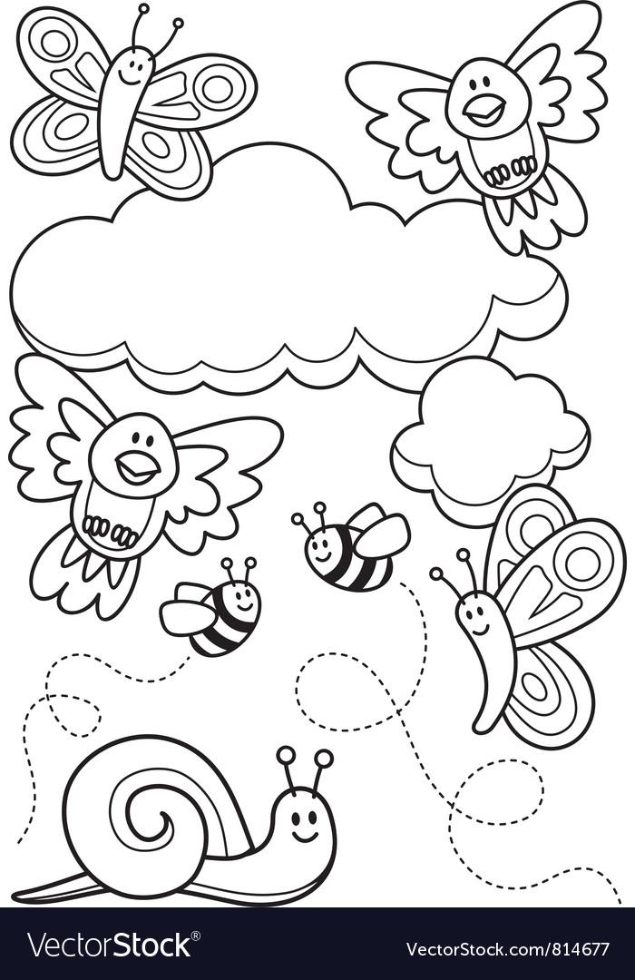 Baby animals coloring book vector | Price: 1 Credit (USD $1)