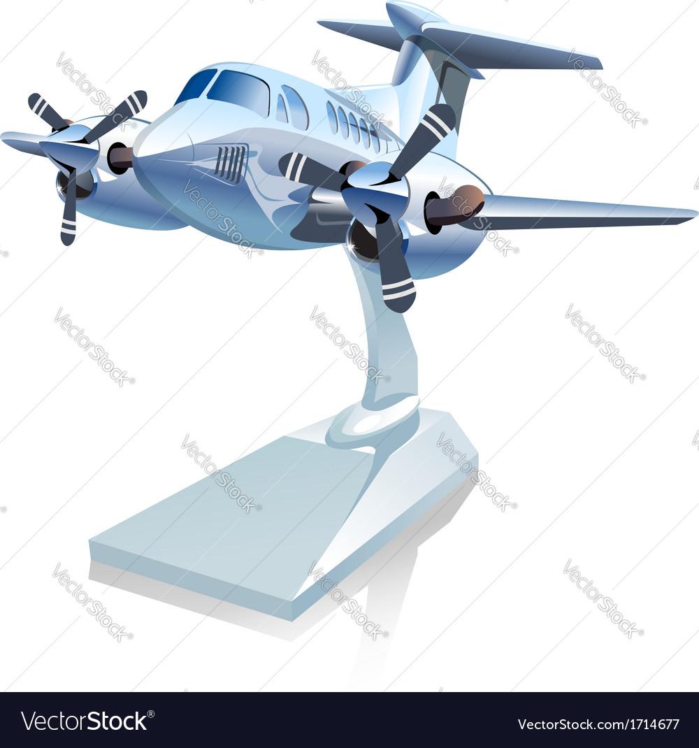 Cartoon airplane vector | Price: 3 Credit (USD $3)