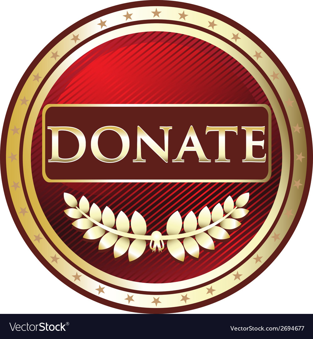 Donate red label vector | Price: 1 Credit (USD $1)