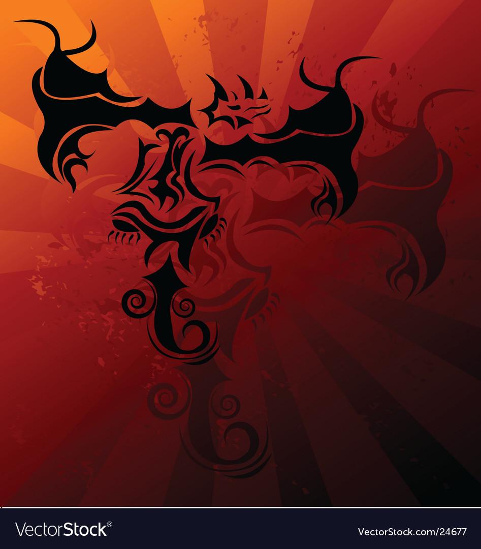 Dragon tattoo vector | Price: 1 Credit (USD $1)