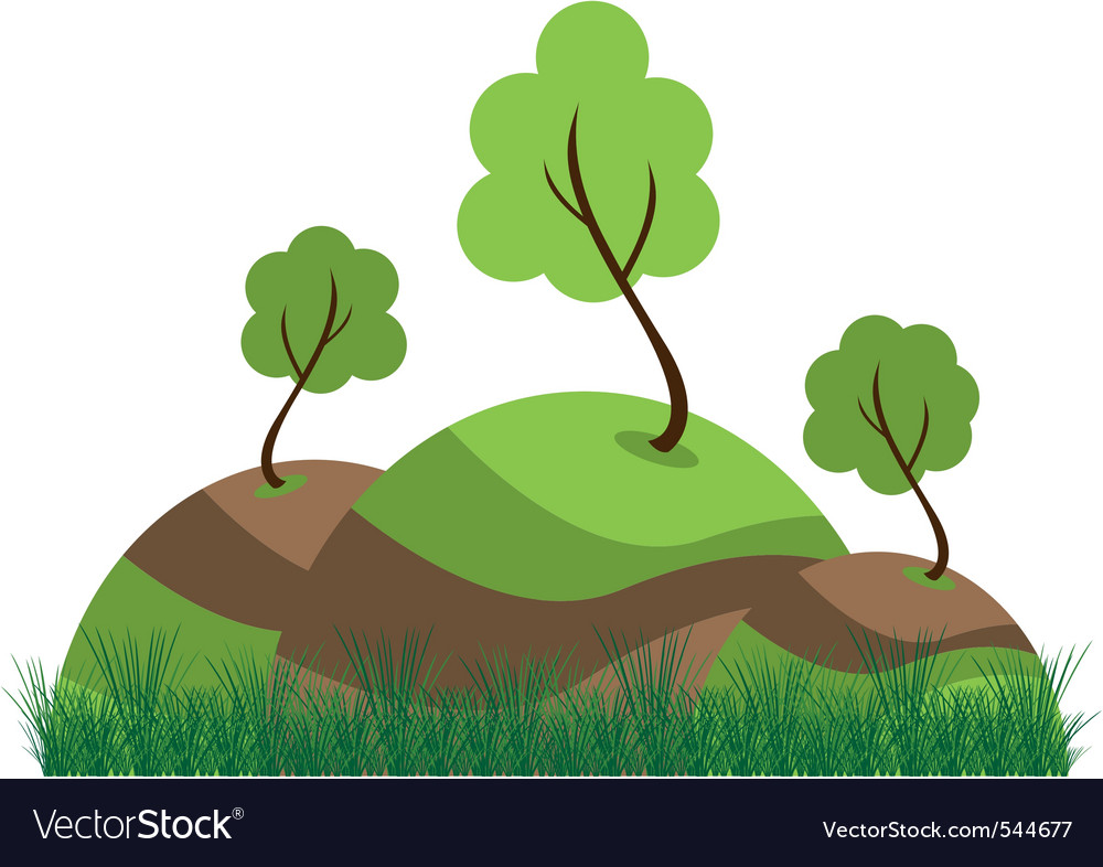 Grassy knoll vector | Price: 1 Credit (USD $1)