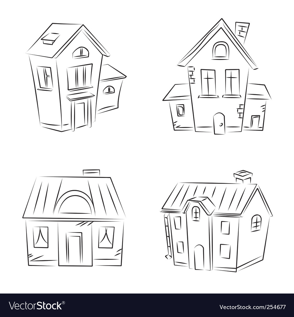 Houses set vector | Price: 1 Credit (USD $1)
