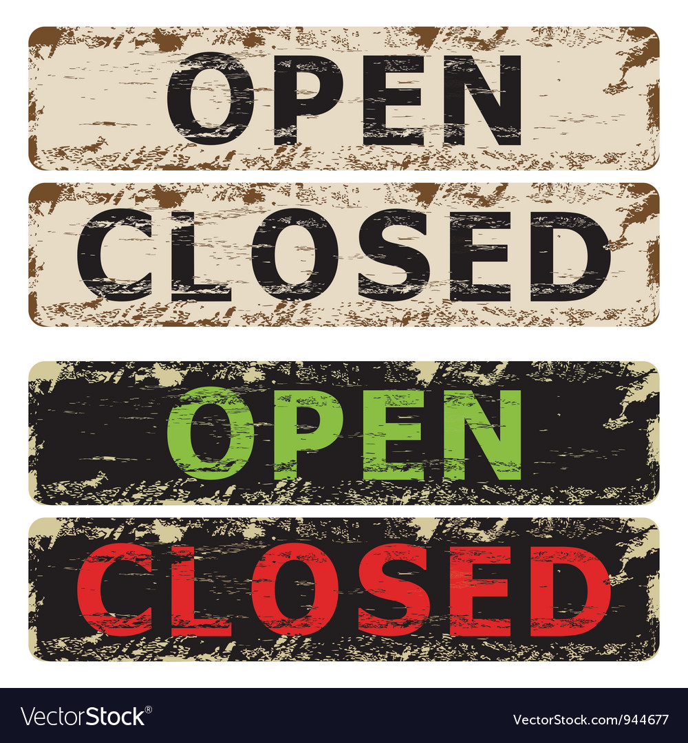 Open and closed sign vector | Price: 1 Credit (USD $1)