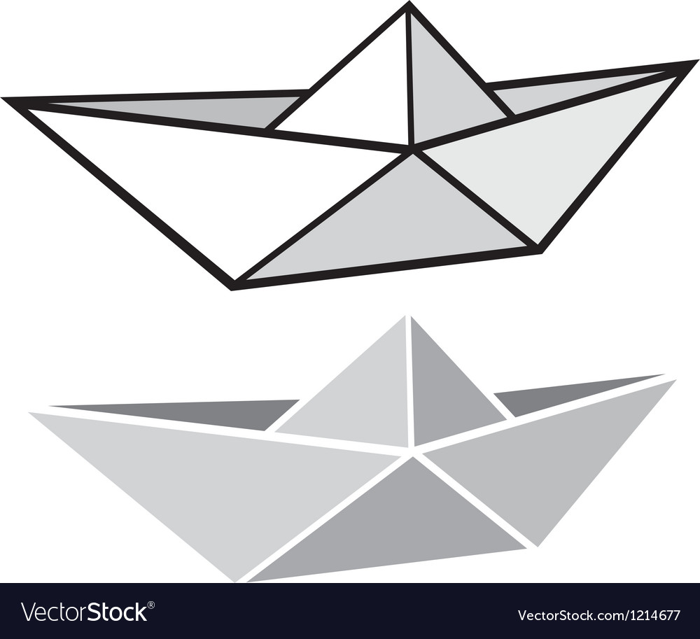 Origami paper boat vector   Price: 1 Credit (USD $1)