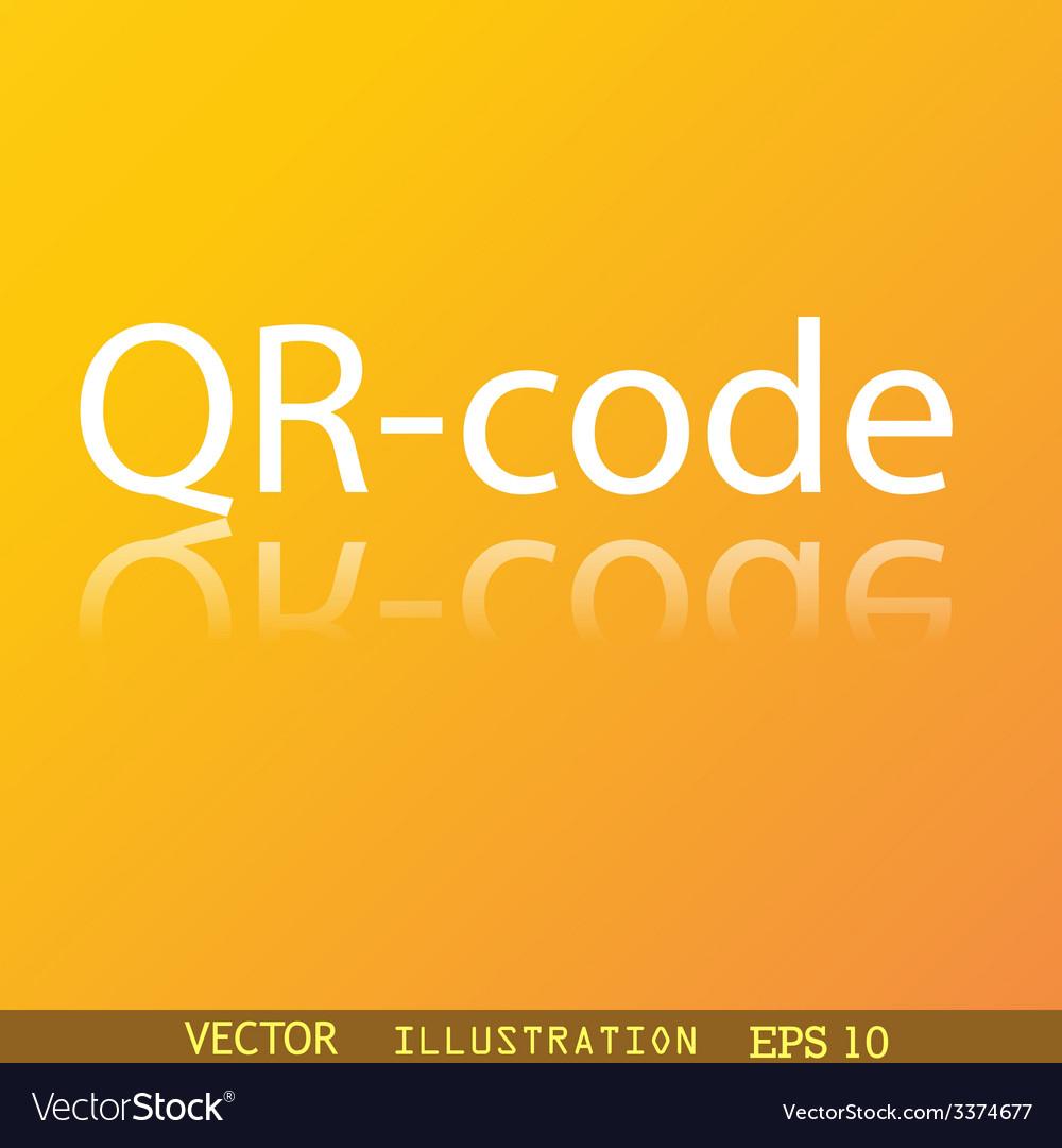 Qr code icon symbol flat modern web design with vector   Price: 1 Credit (USD $1)
