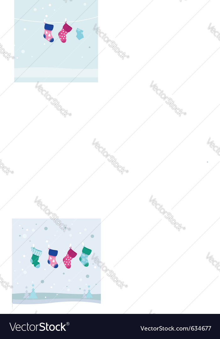 Retro christmas stockings vector | Price: 1 Credit (USD $1)