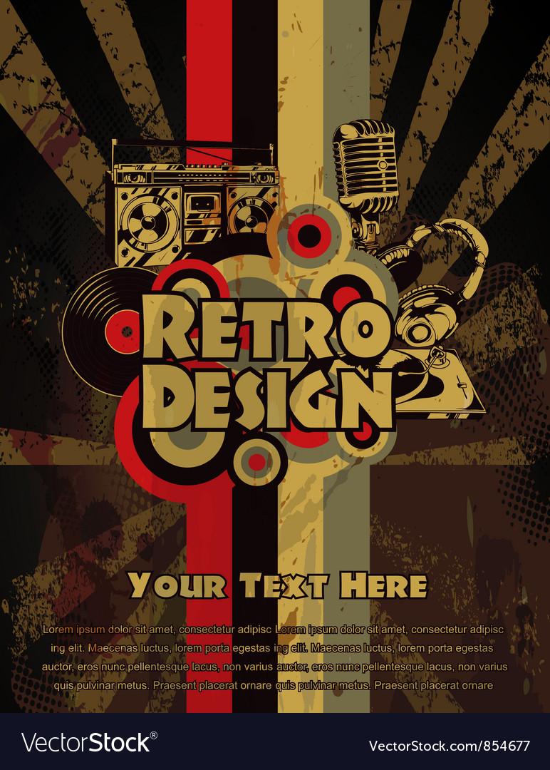 Retro grunge concert poster vector | Price: 1 Credit (USD $1)