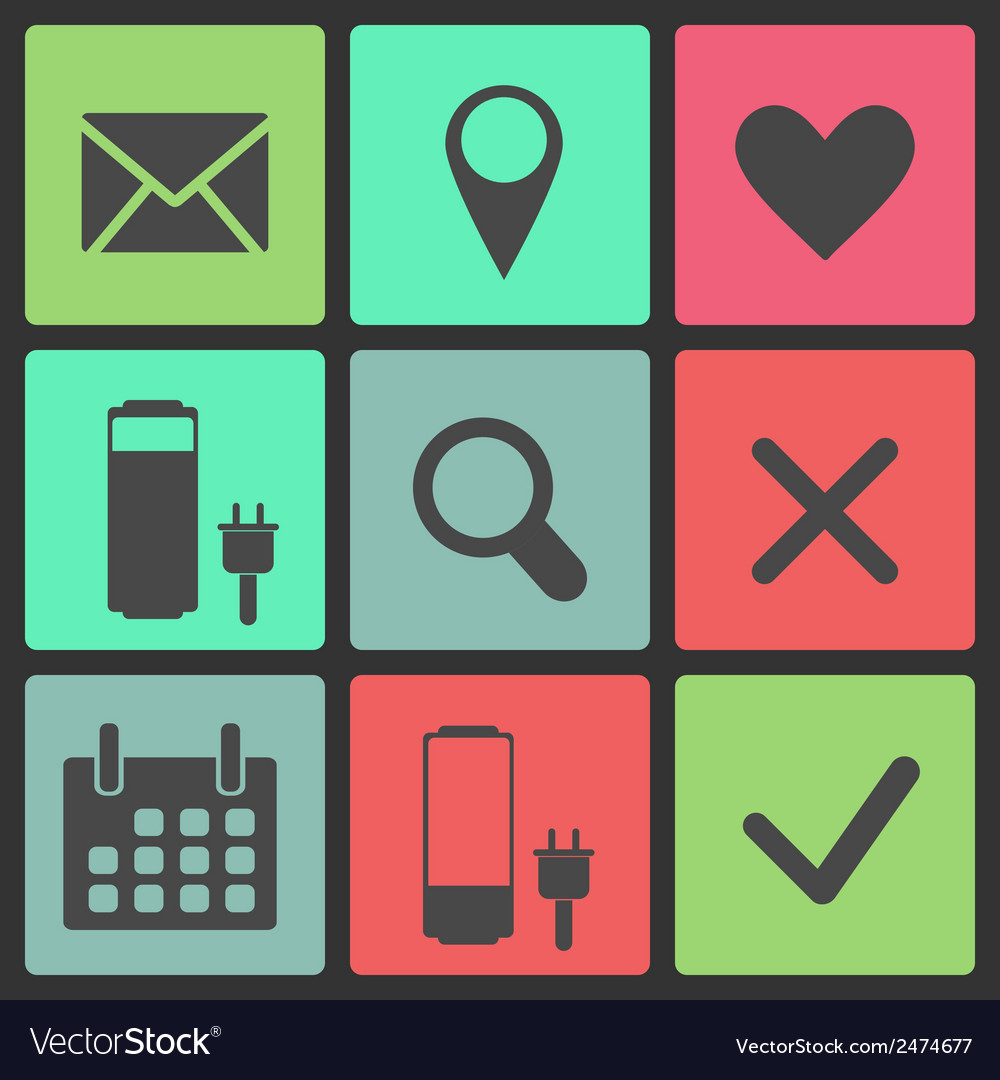 Set of icons web design elements vector | Price: 1 Credit (USD $1)