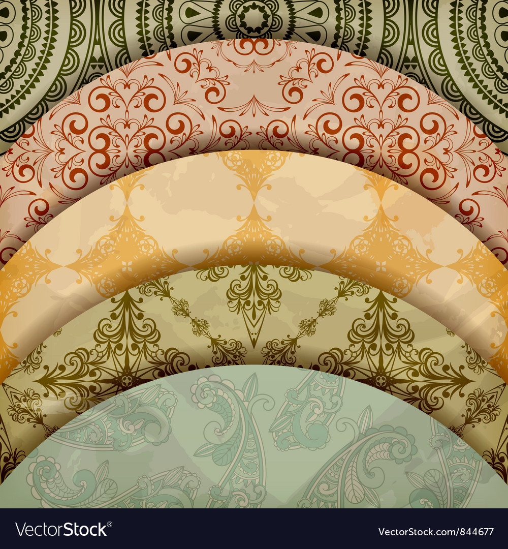 Vintage floral patterns vector | Price: 1 Credit (USD $1)