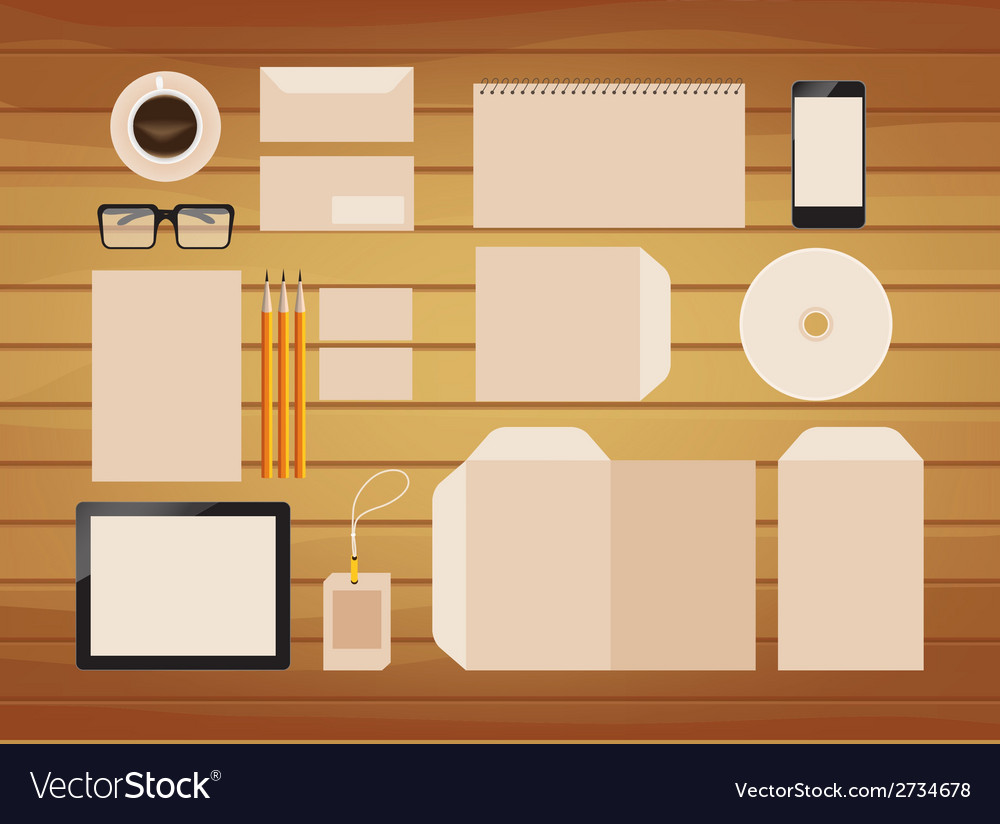 Brand identity business colourful retro vector | Price: 1 Credit (USD $1)