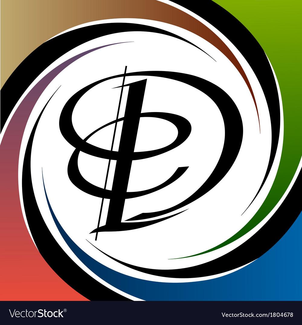 Calligraphic letter vector | Price: 1 Credit (USD $1)