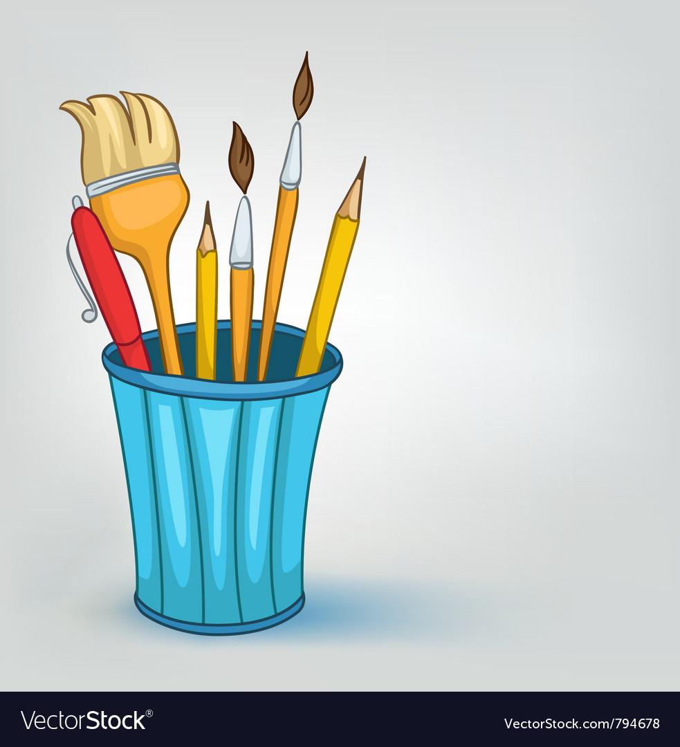 Cartoon pencil set vector | Price: 1 Credit (USD $1)