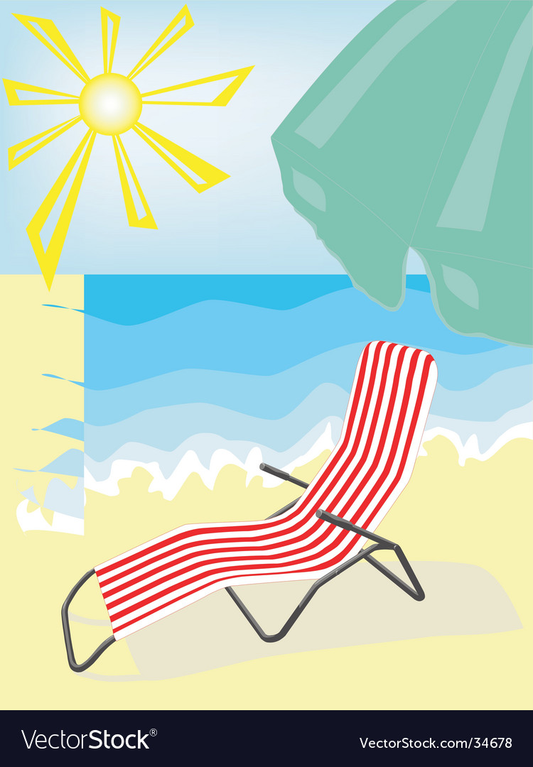 Deck-chair vector | Price: 1 Credit (USD $1)
