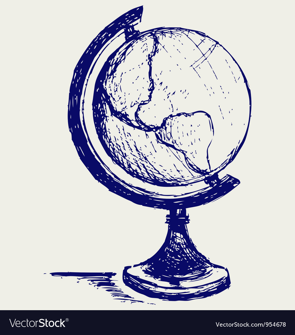 Globe sketch vector | Price: 1 Credit (USD $1)
