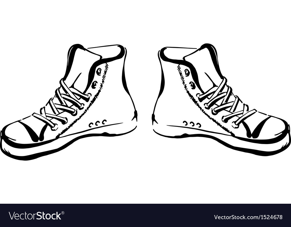 Hand drawn sneakers vector | Price: 1 Credit (USD $1)