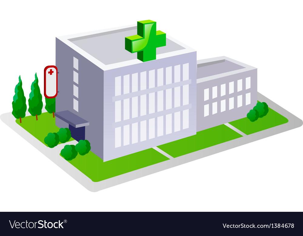 Icon hospital vector | Price: 1 Credit (USD $1)