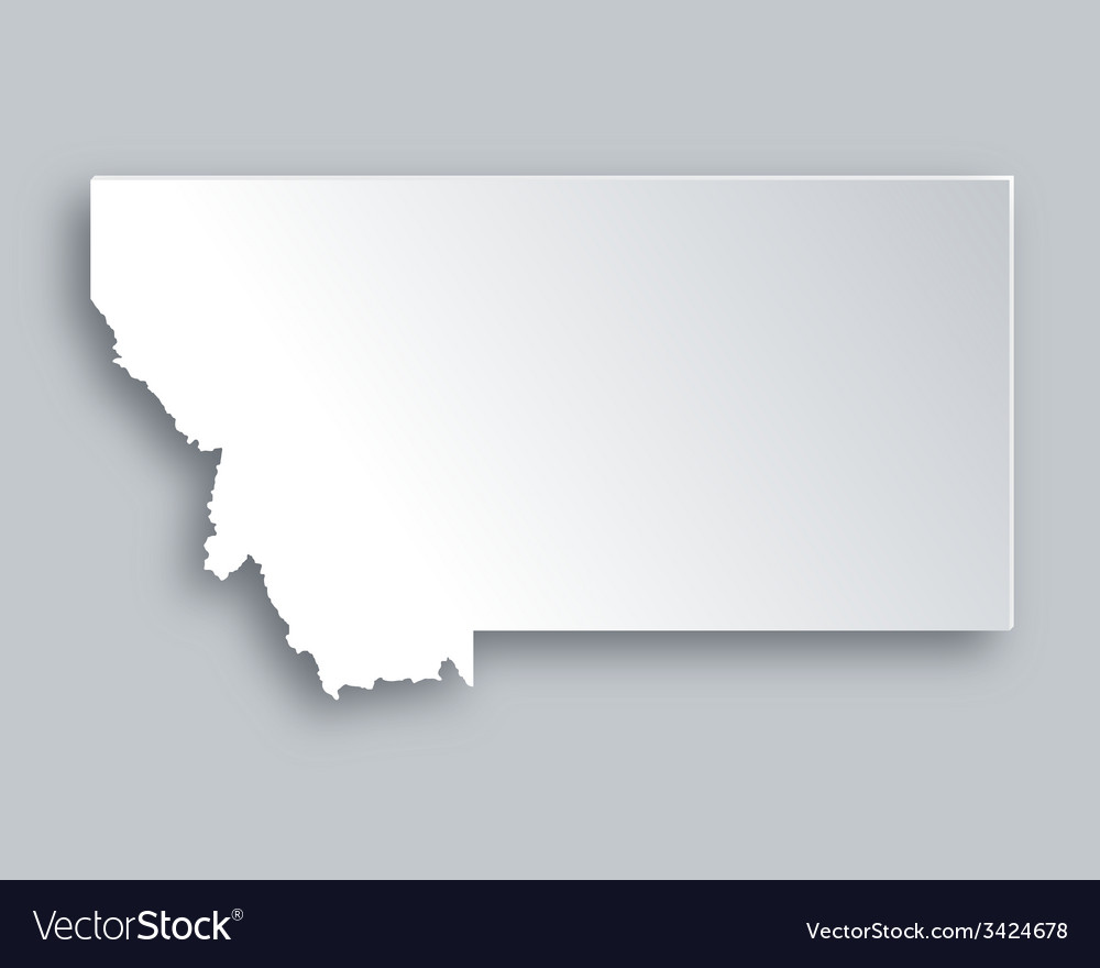 Map of montana vector | Price: 1 Credit (USD $1)