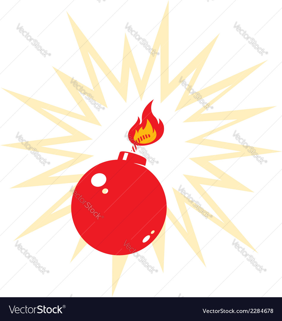 Red bomb vector | Price: 1 Credit (USD $1)