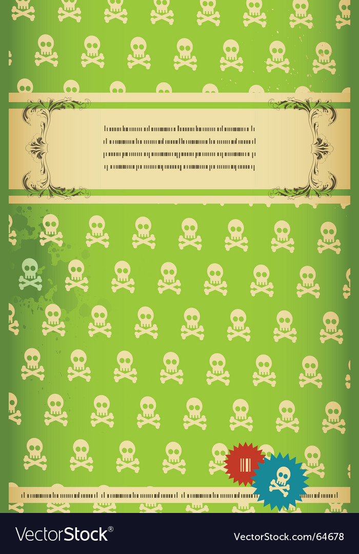 Retro skull background vector | Price: 1 Credit (USD $1)