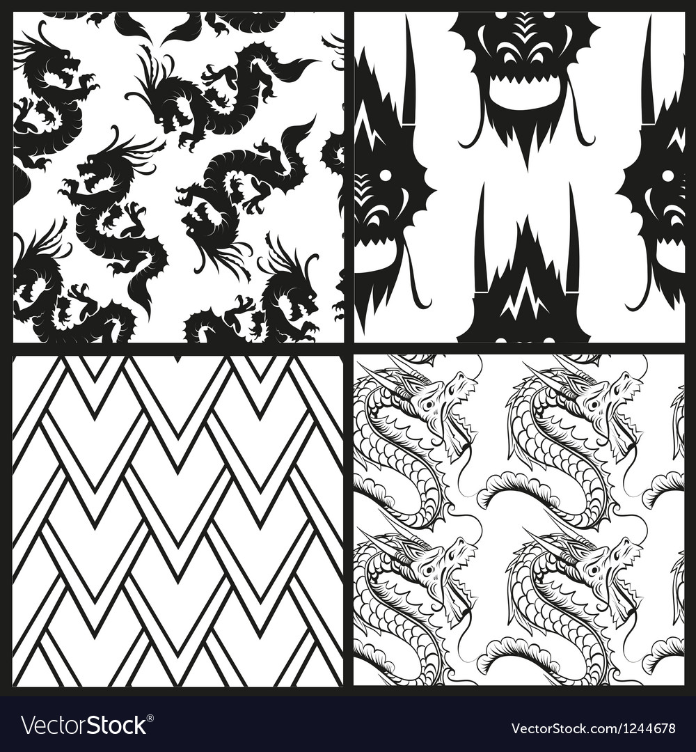 Set of chinese patterns vector | Price: 1 Credit (USD $1)