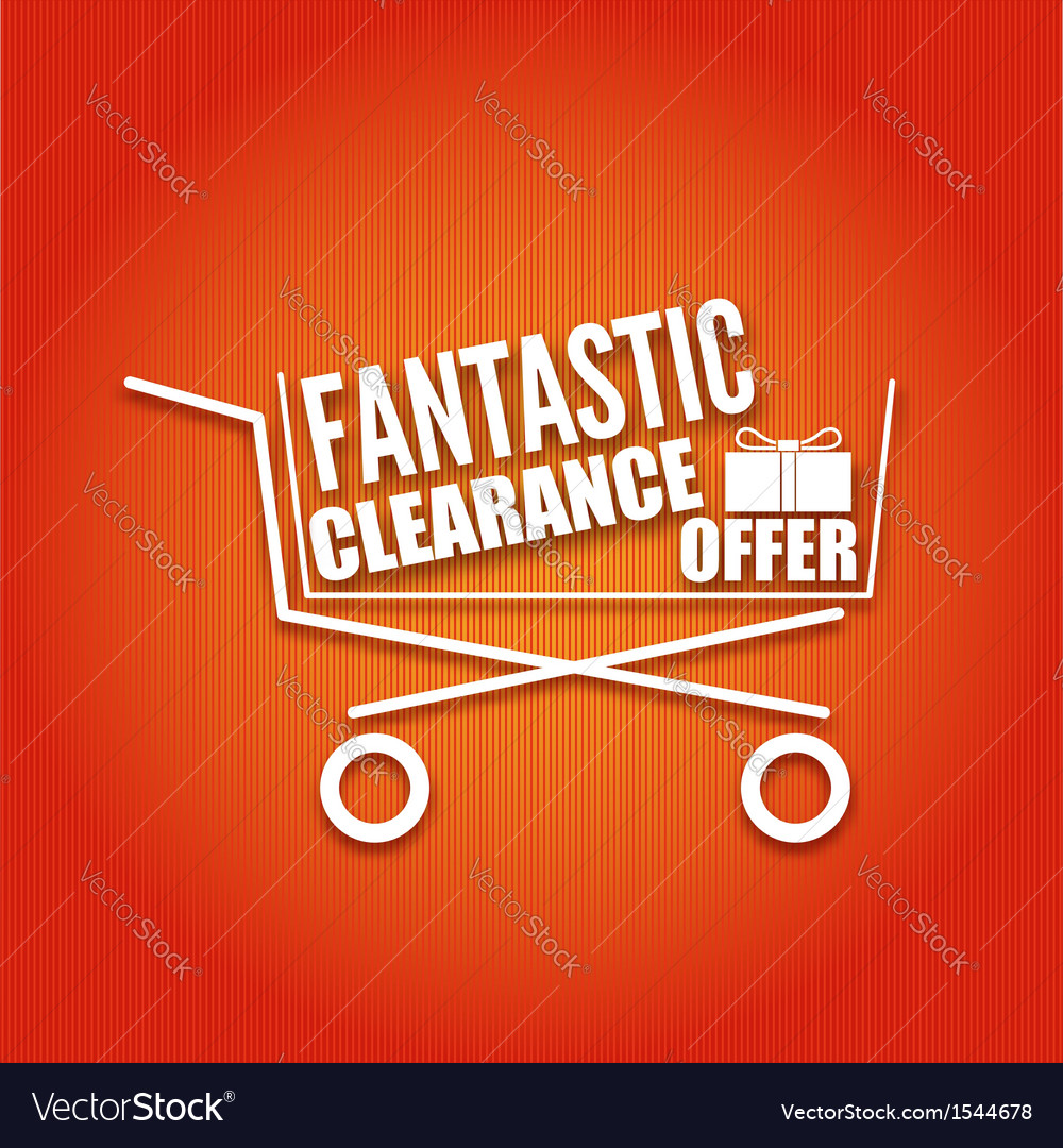 Shopping cart on a bright background vector | Price: 1 Credit (USD $1)