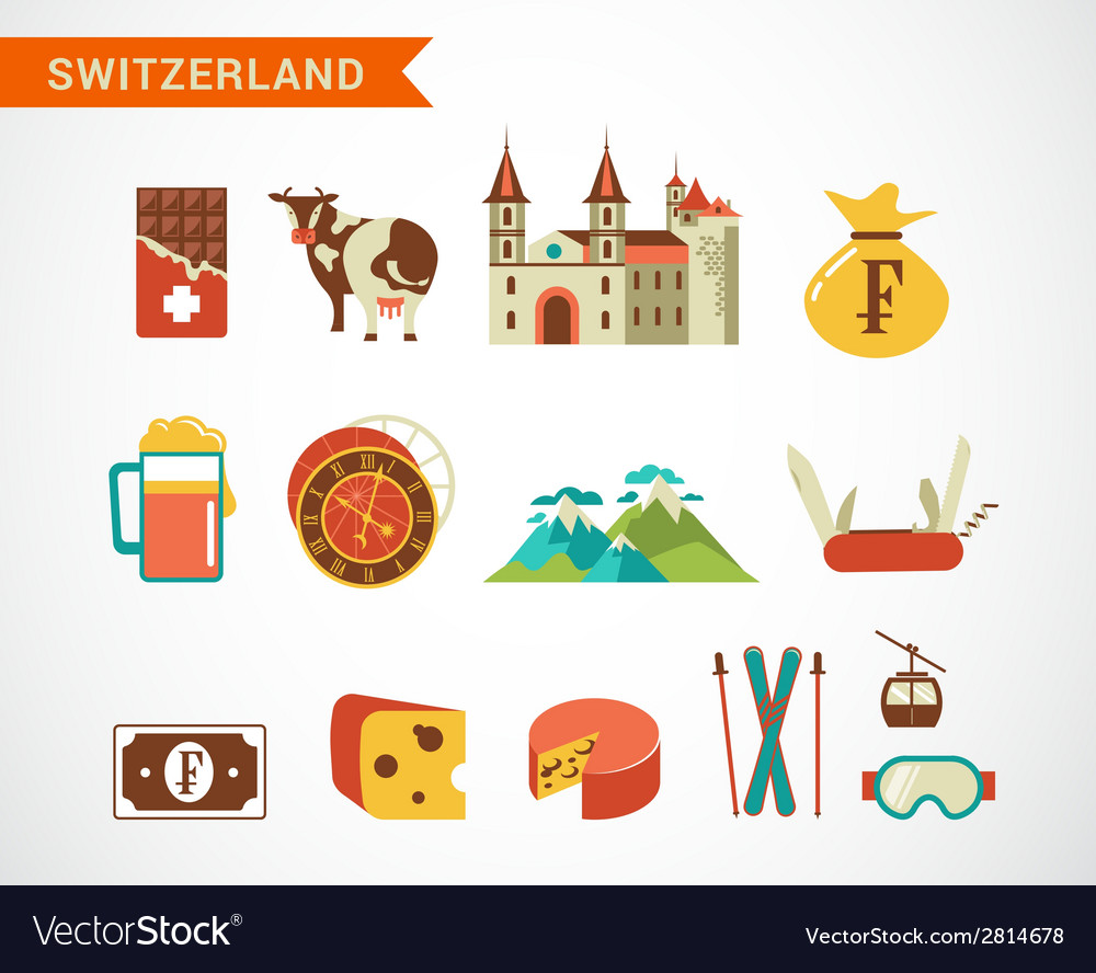 Switzerland - icons set vector | Price: 1 Credit (USD $1)