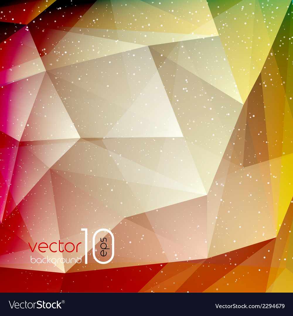 Abstract geometric polygonal shiny background vector | Price: 1 Credit (USD $1)