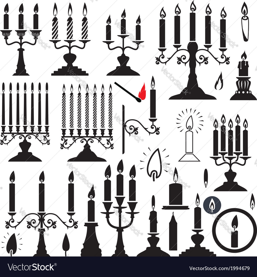 Candlesticks and candles vector | Price: 1 Credit (USD $1)