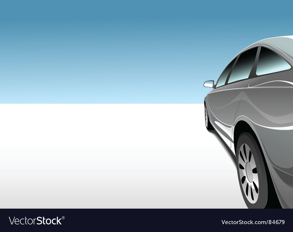 Car in desert vector | Price: 1 Credit (USD $1)