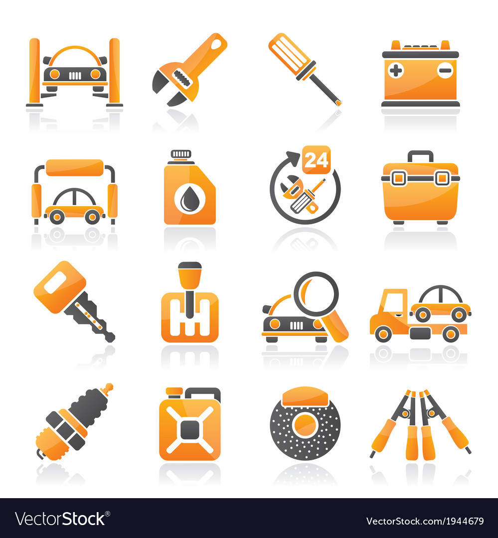 Car parts and services icons vector   Price: 1 Credit (USD $1)