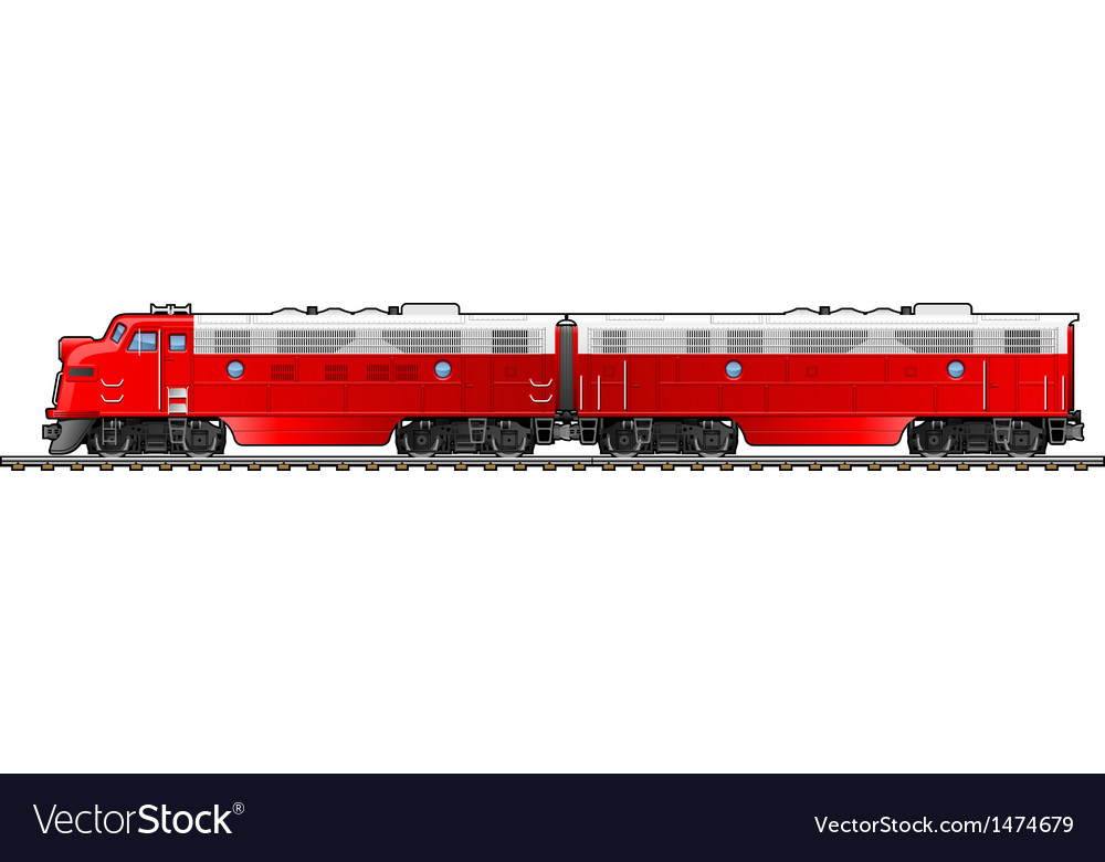 Diesel locomotive vector | Price: 1 Credit (USD $1)