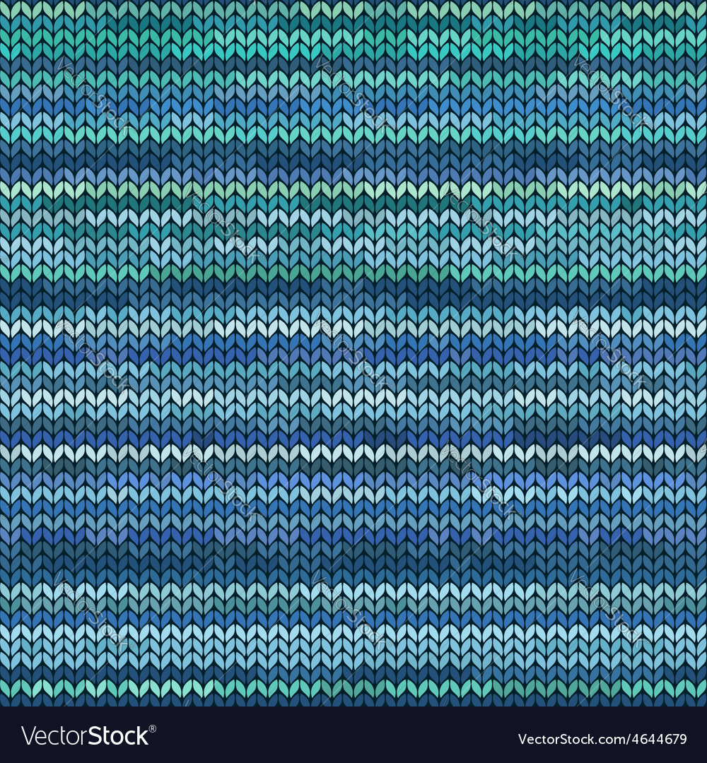 Melange knitted seamless pattern vector | Price: 1 Credit (USD $1)