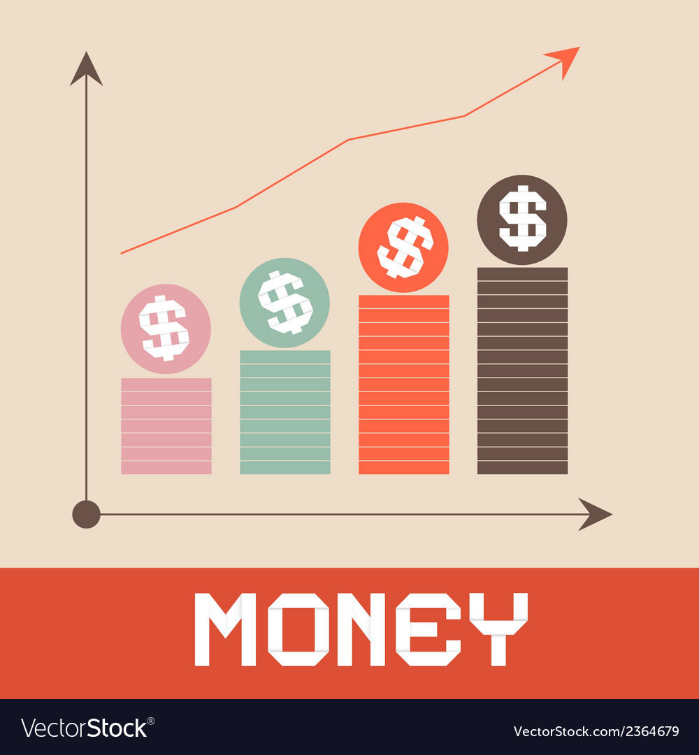 Money graph paper retro vector | Price: 1 Credit (USD $1)