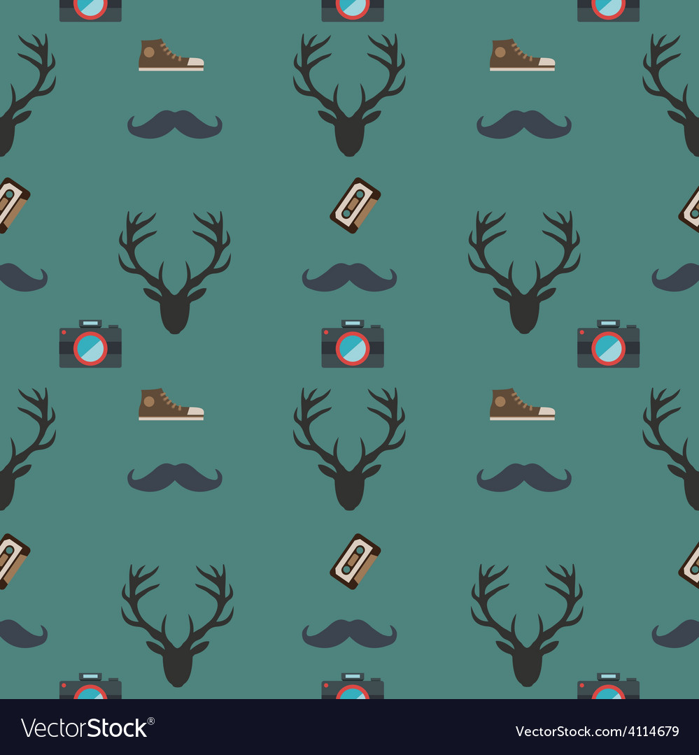 Pattern hipster vector